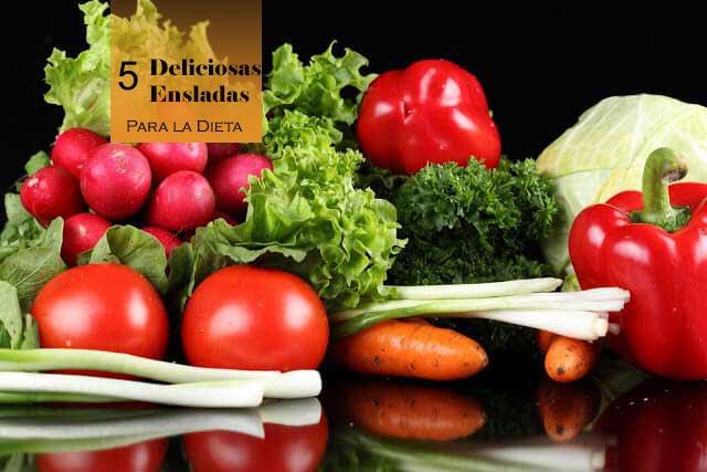 5 Ensaladas Saludables para llevar con tu dieta o solo acompañar.